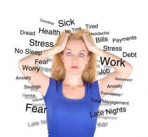 Symbole stress travail bien-être burnout